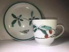 Mottahedeh Vista Alegre Famille Pattern Cup Flat Saucer Mint Condition MMA