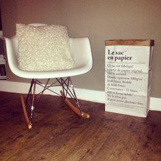 Rocking chair sac en papier