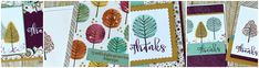 6 Cards With Stampin' UP Totally Trees -- I like this stamp set, but don't have it