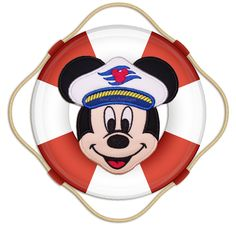 Cruise Mickey Mouse Face No Sew Applique Patch by SewCuteApplique