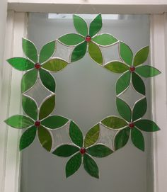 Green Glass Wreath