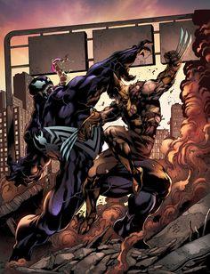 Venom vs Wolverine by jadecks on deviantART