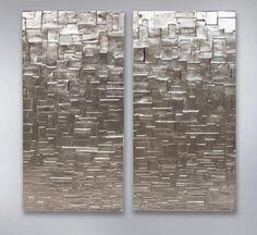 Mondriaan Silver 120x120 van John Breed
