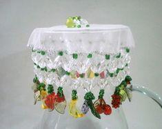 Cobre jarras 25 cms Frutas verde