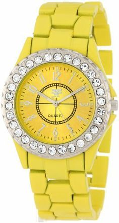 "Fancy Face Women's FF0261YE Candy Collection ""Frost"" Yellow Stone Bezel Metal Bracelet Watch Fancy Face. $29.81. Stone bezel. Coordinating yellow dial and bracelet. Water-resistant to 99 feet (30 M). Japanese movement. Distinctive eye catching gift box"