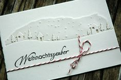 handmade winter card ... white on white ... Memory Box die:Border Country Landscape  ...gorgouse!!