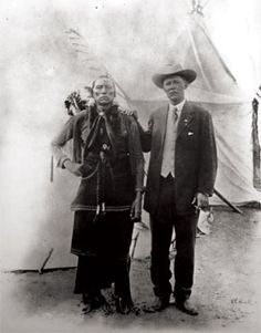 Captain Burnett with Quanah Parker.
