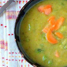 Carrot Celery Leek Potato Soup.