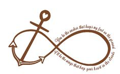 You Be The Anchor That Keeps My Feet On The by shaelaraedesigns Future Tattoos, New Tattoos, I Tattoo, Tatoos, Flash Tattoos, Cousin Tattoos, Creative Inspiration, Tattoo Inspiration, Infinity Anchor