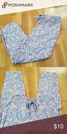 ZARA OYSHO LOUNGEWEAR PANTS! GENTLY worn in very good condition.  Pink paisley LOUNGEWEAR drawstring pants.  Very soft and cozy! Zara Intimates & Sleepwear Pajamas