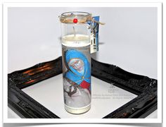 Pieta Candle (Jesus & Mary) Photo Glass Candle  by theRDBcollection.com, $24 | You'll want this breath-taking Pieta photo on unscented white candle. It is so lovely. | It was shot at a church in New Orleans. | Other photo candles in the collection are also available so take a look.