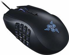 Razer - Naga Chroma USB MMO Gaming Mouse - Black - Angle Zoom