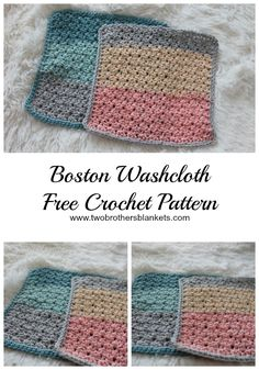 Newest Free cotton Yarn projects Suggestions The Boston Washcloth Free Crochet Pattern provides sturdy texture and a simple workup! Use these cl Cotton Crochet Patterns, Crochet With Cotton Yarn, Crochet Designs, Crochet Yarn, Knitting Patterns, Crochet Dishcloths Free Patterns, Washcloth Crochet, Knitting Tutorials, Blanket Patterns