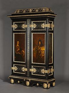 Napoleon III Gilt-Bronze Mounted, Cut Brass, Pewter and Ebonised Boulle Marquetry Armoire - French c.1880