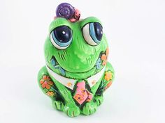 Little bit of Green ! ... and Frogs !!! by Anna on Etsy