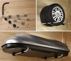 2 x Bike / Car Roof Top Box Storage Hooks - Home Storage Systems From Store