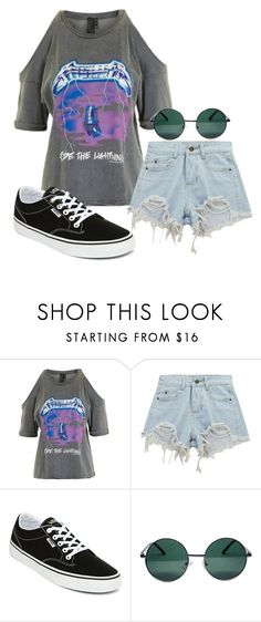 """""""[137]"""" by iamodd ❤ liked on Polyvore featuring Topshop, Chicnova Fashion, Vans and YHF"""