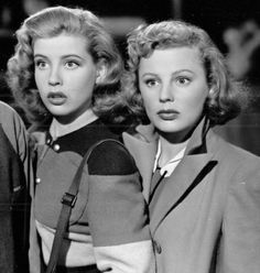 "Gloria DeHaven and June Allyson in ""Two Girls and a Sailor"" directed by Richard Thorpe ""The studio had cast me as the beautiful sis. Old Hollywood Glamour, Golden Age Of Hollywood, Vintage Hollywood, Hollywood Stars, Classic Hollywood, Classic Actresses, Classic Movies, Actors & Actresses, Hollywood Actresses"