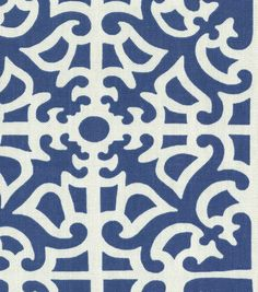 Home Decor Print Fabric-Waverly Parterre Porcelain...possible pillows for family room.
