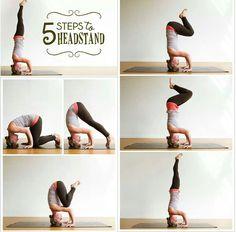 5 steps to headstand YOGA (Yoga inspiration via FB)