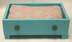 Pink and Blue Upcycled Dresser Drawer Pet Bed by RooseveltKid, $45.00