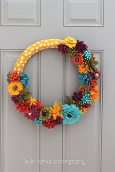 DIY Fall Flower Wreath