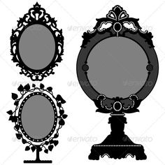 Vintage Mirror Tattoo   graphicriver mirror design 1336605 stock vector objects man made ...