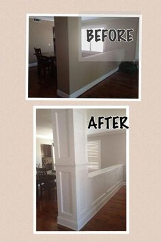 DIY Home Improvement Projects kitchendecornews. DIY Home Improvement Projects kitchendecornews…. DIY Home Improvement Projects kitchendecornews…. Home Improvement Projects, Home Projects, Home Improvements, Crown Molding Kitchen, Kitchen Remodel Before And After, Diy Kitchen Remodel, Remodel Bathroom, Moldings And Trim, Moulding