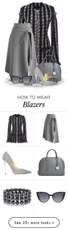 """Alexannder Wang   Blazer 2016"" by flowerchild805 on Polyvore featuring Alexander Wang, GUESS, Chicwish, Yves Saint Laurent, Chico's, Jimmy Choo and Fendi"