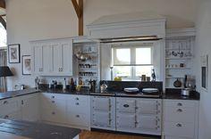 aga in a white kitchen