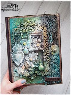 Marta Lapkowska: Mixed Media Journal Cover + VIDEO Tutorial for Dusty Attic