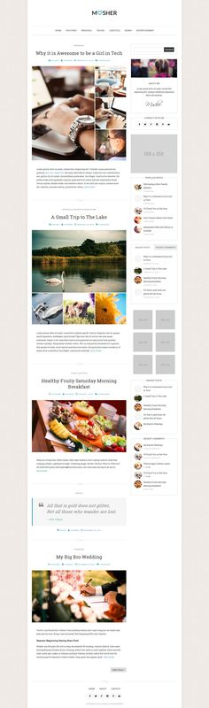 Check out Mosher - A Beautiful Personal Blog on Creative Market