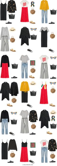 What to Pack for Greece Packing Light List 18 Outfit Options | What to pack for Greece | Packing Light | Packing List | Travel Light | Travel Wardrobe | Travel Capsule | Capsule |