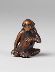 Netsuke of a Kappa, 18th century - Japan - Wood