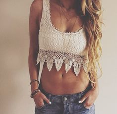 Crop top | Lace Top | Crochet Top | Summer top | love this