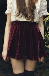 love this crimson skirt paired with the lacy blouse to give a dark vintage boho sorta look xx