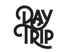 Day Trip by Simon Walker Typography Alphabet, Handwritten Typography, Typography Layout, Creative Typography, Script Lettering, Vintage Typography, Typography Quotes, Typography Poster, Graphic Design Typography