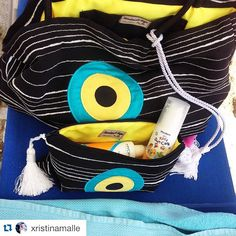 Handmade bags Christina Malle goes to the beach! #Repost @xristinamalle with @repostapp. ・・・ Handmade bags only for me ... A new set for the vacation .. #evileyeproject #greekdesighner#chalkidiki#Greece #summer#handmadebags#malle_bags #madeingreece#onlyforme