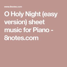 Alouette sheet music for Piano O Holy Night, Twinkle Twinkle Little Star, Piano Sheet Music, Holi, Romance, Easy, Spanish, Holy Night, Romantic Things