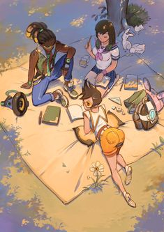 Overwatch - After School Picknick ...  and something happened to Tracer's Butt and D.VA's Breasts