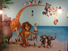 Mural for a Doctor's office! Murals For Kids, Doctor Office, Kids Room, Hand Painted, Child's Room, Offices, Commercial, Painting, Paris