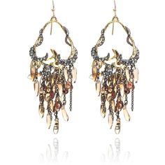 Alexis Bittar: Siyabona Sunset Cluster Earrings (1 085 PLN) ❤ liked on Polyvore featuring jewelry, earrings, accessories, alexis bittar earrings, cluster earrings, 14 karat gold hoop earrings, swarovski crystal earrings and 14 karat gold earrings