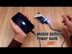 how to make power bank from old mobile battery - YouTube