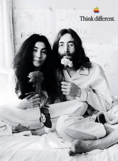 apple think different ad, john & yoko.