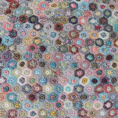 Sophie Digard / Wool Hexagonal Motif Scarf / Multi / - taste&touch ウェブショップ