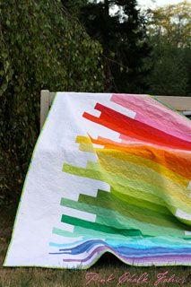 """Line Art"" quilt using Robert Kaufman solids. Beautiful in its simplicity!"