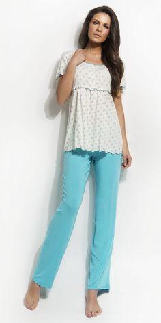 Women's Pyjamas 93% micro-modal 7% elastane | Pyjamas| Vamp! Women's Pyjamas 93% micro-modal 7% elastane 4386 Ss 15, Pyjamas, Off Shoulder Blouse, Natural, Collection, Women, Fashion, Moda, Fashion Styles