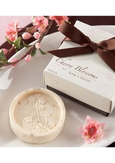 cherry blossom scented soaps (favors)