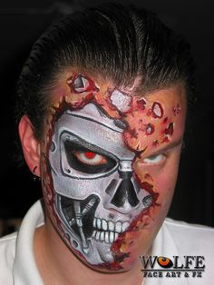 Kurt Drake of Wolfe Face Art & FX creates art using face paints