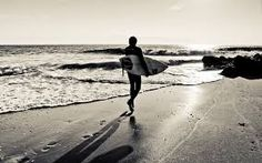 Leaving directly home after a good day surfing on small waves.